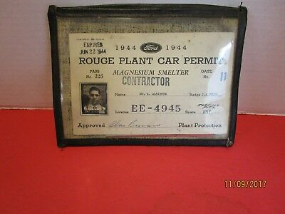 1944 Ford Rouge Plant Parking Permits   1==1944.   2===1952