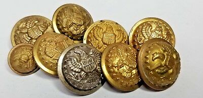 Indian Wars button lot post Civil War Staff Officer eagles COLLECTION