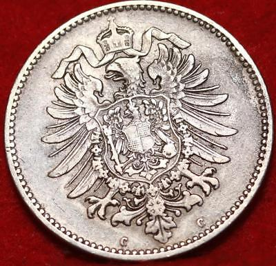 1874-C Germany 1 Mark Silver Foreign Coin