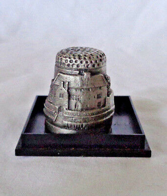 Pewter Thimble Llancaiach Fawr Manor A Gift from Wales In case