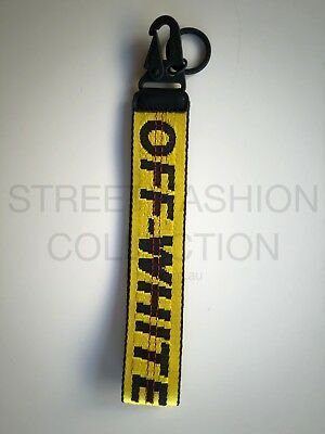 Off-White c/o Virgil Abloh - Yellow Industrial Belt Keychain Key chain Tag Clasp