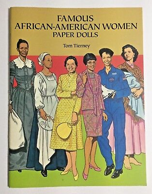 Famous African American Women Paper Dolls 1994 UNCUT Rosa Parks Maya Angelou