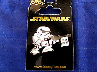 Disney Star Wars * LITTLE STORMTROOPER - PEW PEW * New on Card Trading Pin