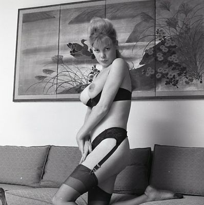 1960s Ron Vogel Negative, busty nude blonde pin-up girl Kim Kimberly, t216669