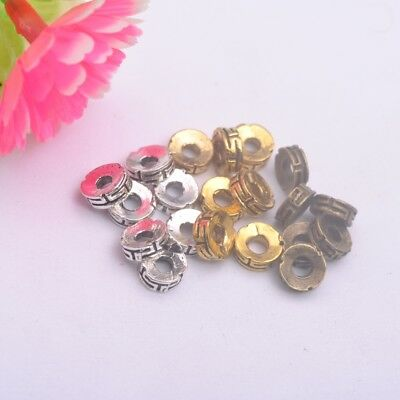 100PCS  Tibetan silver Round Loose Spacer Beads Jewelry Findings DIY E3170