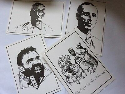 4 X Australian Cricketers Ashes Postcards
