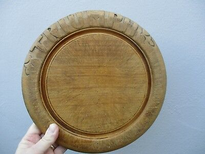 An Antique Vintage English Carved Bread Board-TRIUMPH