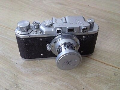 Lovely Zorki  Leica Copy Camera With Lens,unusual Markings