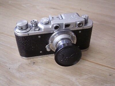 Lovely Zorki  Leica Copy Camera With Lens,early Serial Number