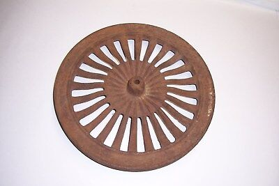 ANTIQUE FARM GEAR DECOR, Old Cast Iron Metal Wheel Art Steampunk Lamp Base