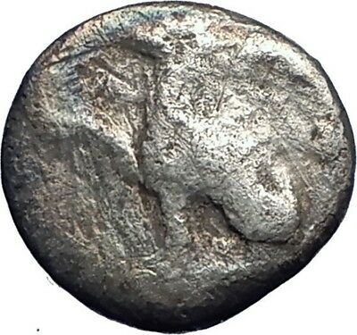ABDERA Thrace 415BC Griffin & Bull Rare Ancient Silver Greek Coin  i73544