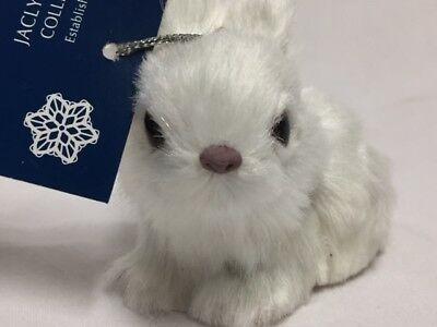 Jaclyn Smith Adorable Furry White Rabbit Ornament