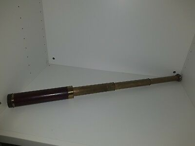Antique Brass 3 Draw TELESCOPE Vintage Naval Maritime 2 Foot Spyglass