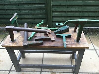 Blacksmiths Workbench And Anvil Tools