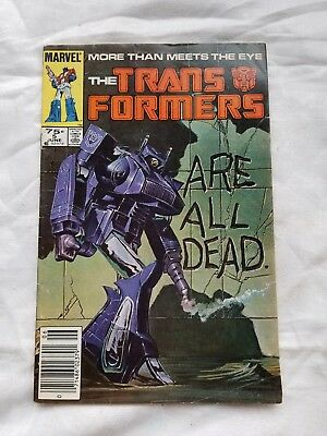 The Trans formers # 5 1985  All are dead