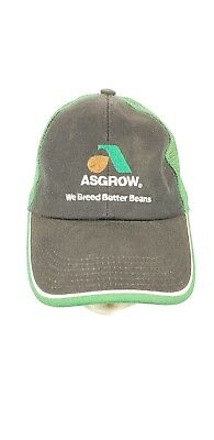 ASGROW MESH SOYBEAN Farm Seed Agriculture Advertising Snapback HAT ... 64401facbadd