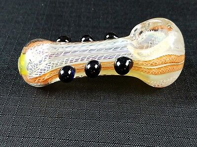 "3.5"" Thick Glass Tobacco Smoking Pipe Herb Glass Bowl Pipe Stripe Multicolor"