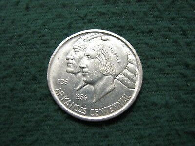 Beautiful 1936 S  U.S. Silver Commemorative Half Dollar ARKANSAS  Uncirculated
