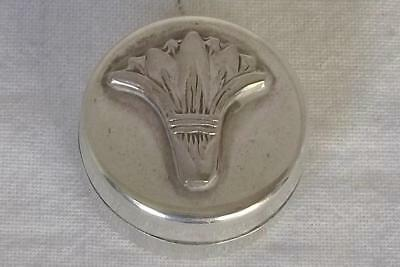 An Exquisite Little Solid Silver Hallmarked Persian Pill Box.