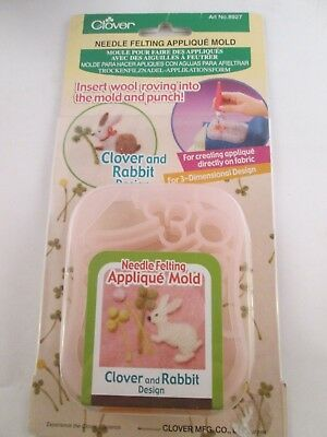 Clover Needle Felting Applique Mold - Rabbit & Clover