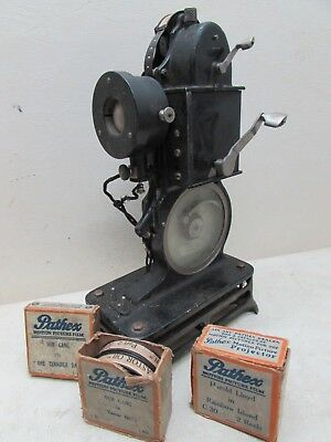1920s Pathex French Film Projector Hand Crank Harold Lloyd Our Gang Antique