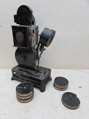 1920s Pathex France Film Projector Hand Crank with Films Home Movies Antique