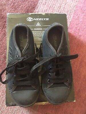 Black Heelys Size 12 Girls Or Boys Excellent Condition