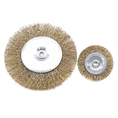 Practical Wire Steel Brass Brushes Set Polishing Brush Wheels for Rotary Tool S
