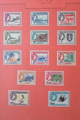 XL3698:  Virgin Islands (1956) – Complete QEII Mint Stamp Set to $4.80