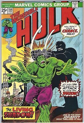 INCREDIBLE HULK #184 (1975) VF/NM 9.0 unstamped cents