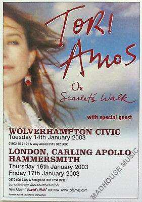 TORI AMOS FLYER 2003 Wolverhampton UK PROMO FLYER Mint rare