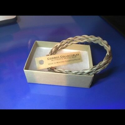BRAND NEW Authentic Horse Hair Bracelet by Cowboy Collectibles, Made in Montana