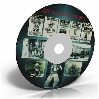 325 old west and cowboy images  on an Art & Craft CD
