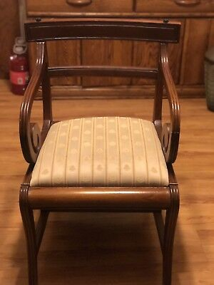 English Regency Style Mahogany Metamorphic Library Arm Chair with Scroll Design