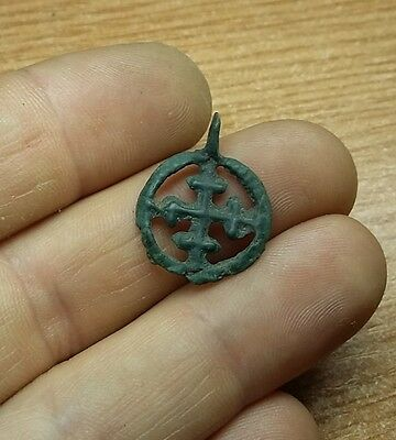 "Fine Viking pendant "" Cross in a circle"". Kievan Rus. Viking. ca1000--1100 #2708"