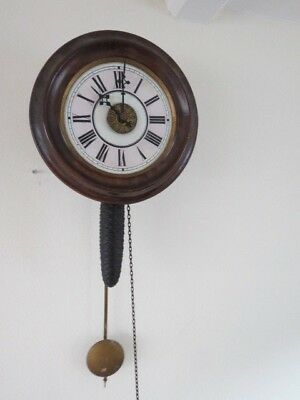 Antique Lovejoy & Co  Black Forest Postmans Alarm Wall Clock For Restoration