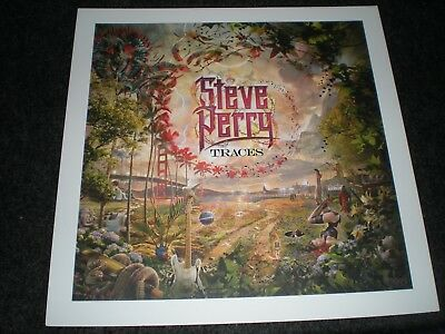 """POSTER limited 16X16"""" hi-gloss STEVE PERRY traces beautiful art For the album cd"""