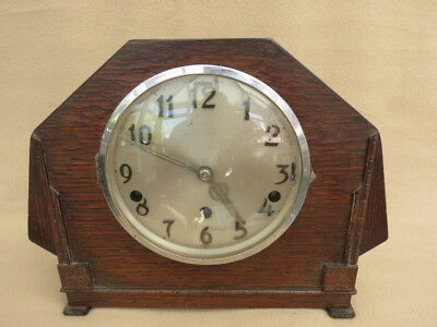 Vintage Dual Chime Art Deco German Mantel Clock