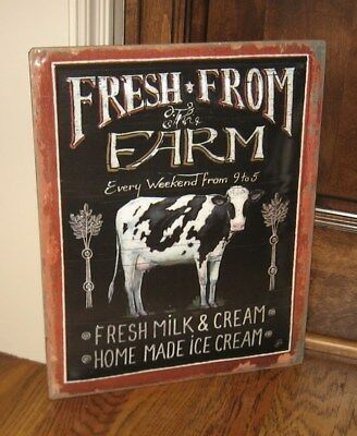 Farm to Table Farmhouse Dairy COW Sign*Primitive/French Country Kitchen Decor