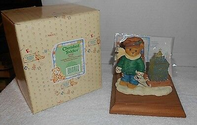 "1997 Enesco Cherished Teddies ""James"" Going My Way For The Holidays #269786"