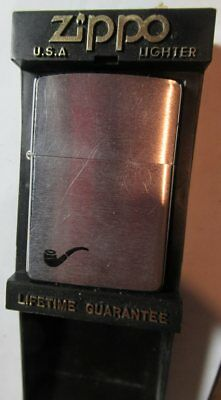 Vintage 1993 Zippo Brushed Chrome Pipe Lighter 200PL