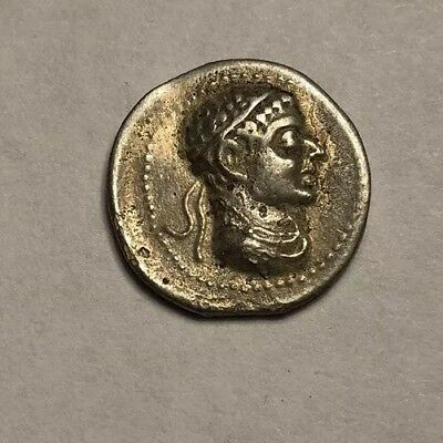 Ancient Greek Silver Coin #38