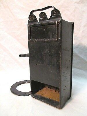 Vintage 1911 Gray Telephone Pay Station Candle Stick Western Electric Bell