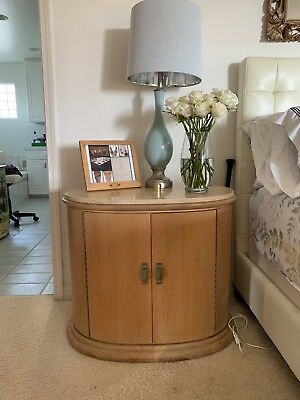 white washed nightstands with beautiful marble top