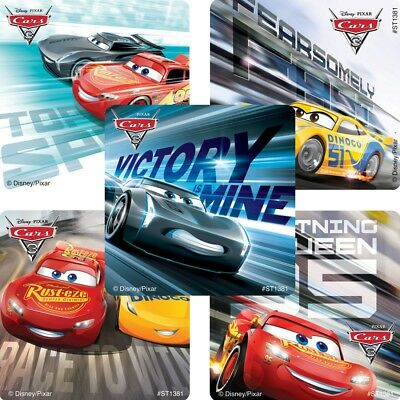 20 Cars 3 STICKERS Party Favors Supplies Birthday Loot Treat Bags