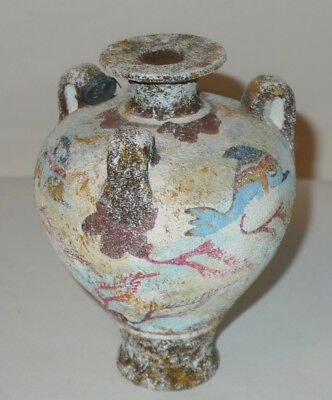 Replica of Ancient Greek Minoan Vase w Sea Creatures/Monsters