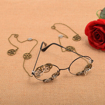 Steampunk Gear Clock Momvement Glasses Cosplay Props Vintage Gothic Glasses