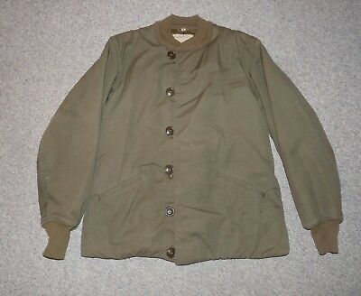 Korean War US Army insulated Olive Drab Pile Field Jacket, size 44 L