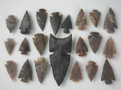 Flint Stone Handmade Arrowhead Collection Spearhead Art Arrow Points Bow Hunting