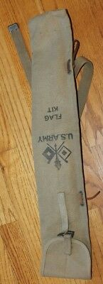 US Army WWII Signal Corp Flag Kit Bag/Pouch -NO FLAG